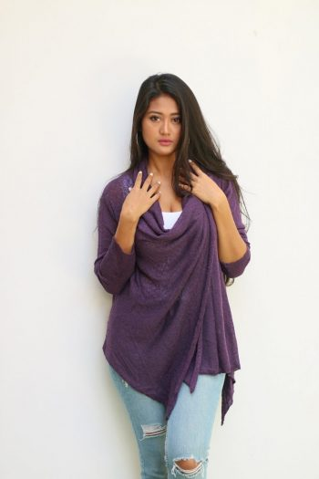 394 Diagonal Sweater, Eggplant
