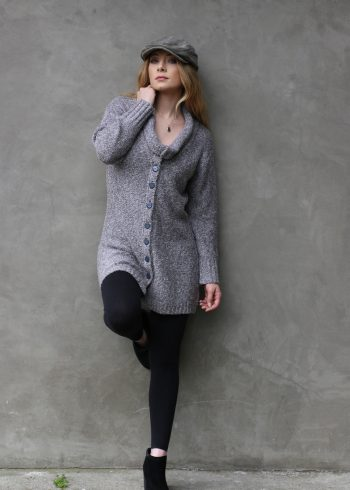 402 Sophia Long Sweater Salt & Pepper